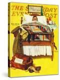 """""""Willie Gillis Home on Leave"""" Saturday Evening Post Cover  November 29 1941"""