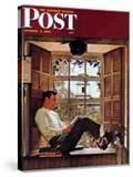 """Willie Gillis in College"" Saturday Evening Post Cover  October 5 1946"