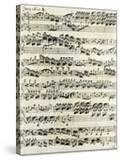 Original Manuscript of Bach's Eighth Invention