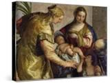 The Holy Family with St Barbara  c1550