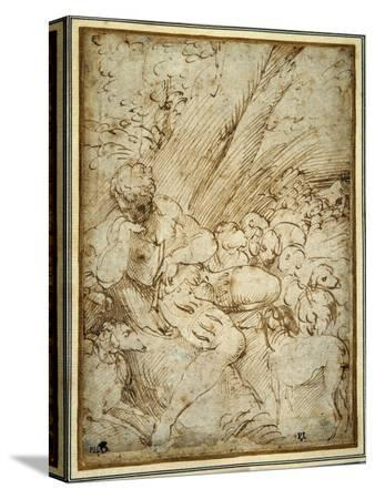 parmigianino-shepherd-boy-holding-a-pipe-resting-under-a-tree-with-his-dog-among-their-flock