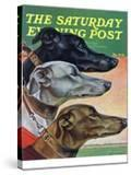 """Greyhounds "" Saturday Evening Post Cover  March 29  1941"