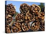 Bundles of Dried Kelp (Cochayuyo) for Sale at Seaside Stall
