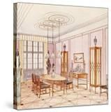 Design for a Dining Room  from 'Documents Architecture Moderne' (Colour Litho)