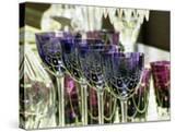Crystal Glasses  Baccarat Museum Shop and Restaurant  Hotel De Noailles  Paris  France