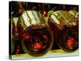 Wine Cellar with Tunnels of Wooden Barrels and Tokaj Wine  Royal Tokaji Wine Company  Mad  Hungary