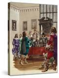 King Charles I Arrives in the House of Commons to Arrest the Five Members of Parliament