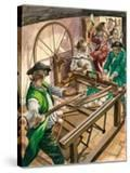 Workers Attack the Blackburn Home of James Hargreaves to Destroy His Invention  the Spinning Jenny