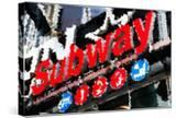 Low Poly New York Art - Subway Sign