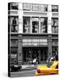 Urban Scene  Yellow Taxi  Topshop Store Front  Broadway  Soho  Manhattan  New York Colors