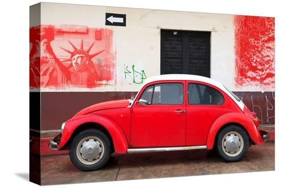philippe-hugonnard-viva-mexico-collection-red-vw-beetle-car-and-american-graffiti