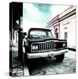 ¡Viva Mexico! Square Collection - Old Jeep in the street of San Cristobal VI