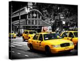 Yellow Cabs  72nd Street  IRT Broadway Subway Station  Upper West Side of Manhattan  New York