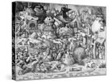 Pride  from the Seven Deadly Sins  Engraved by Pieter Van Der Heyden  1558