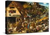 The Netherlandish Proverbs (The Blue Cloak or the Topsy Turvy World)  1559