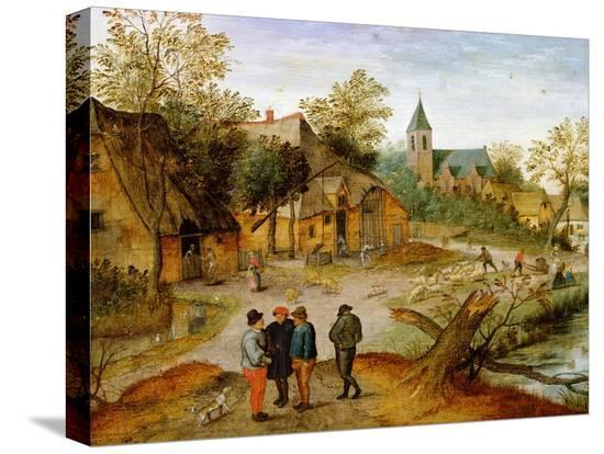 pieter-brueghel-the-younger-a-village-landscape-with-farmers-1634