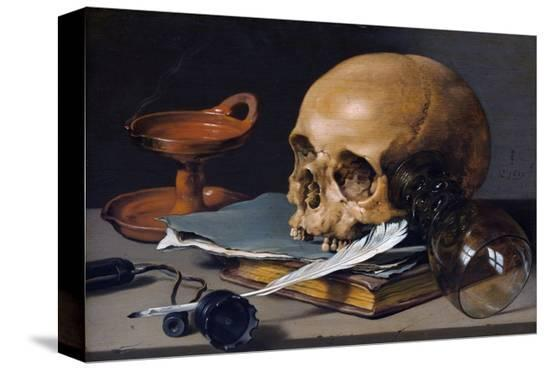 pieter-claesz-still-life-with-skull-and-quill