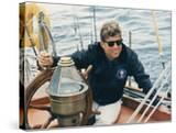 President Kennedy Sailing Aboard US Coast Guard Yacht 'Manitou'  Rhode Island  1962