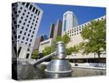 Gavel Sculpture Outside the Ohio Judicial Center  Columbus  Ohio  United States of America  North A