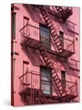 Pink Apartment Building in Soho District  Downtown Manhattan  New York City  New York  USA