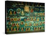 Mural at Tashilhunpo Monastery Depicting Various Teachers  Buddhas and Deities  Shigatse  Tibet