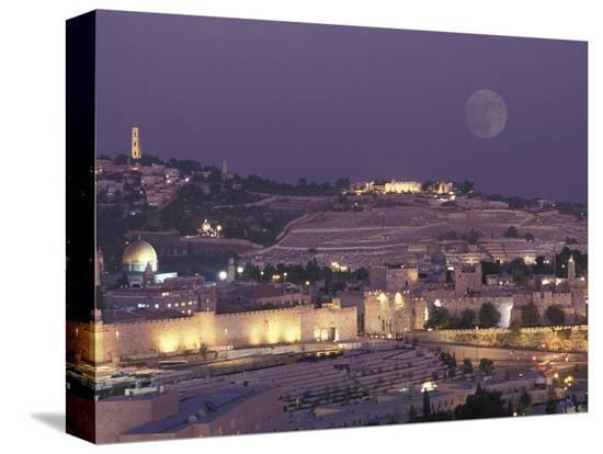 richard-nowitz-moon-over-the-dome-of-the-rock-and-mount-olives-in-jerusalem-israel