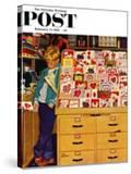 """First Valentine"" Saturday Evening Post Cover  February 11  1956"