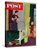 """Mom  I Cleaned My Room!"" Saturday Evening Post Cover  April 2  1955"