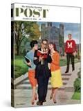 """Picking Poindexter"" Saturday Evening Post Cover  October 17  1959"