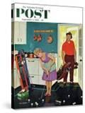 """Putting Around in the Kitchen "" Saturday Evening Post Cover  September 3  1960"