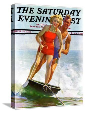 robert-c-kauffmann-ski-boarding-couple-saturday-evening-post-cover-june-27-1936