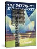 """Baseball Stadium at Night "" Saturday Evening Post Cover  June 28  1941"