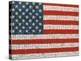 American Flag in Mosaic