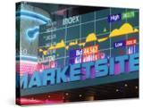 Marketsite Sign at Nasdaq  NYC  NY