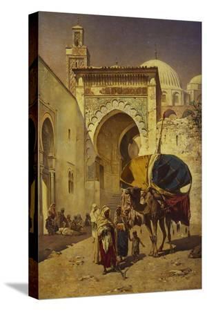 rudolf-gustav-muller-wiesbaden-an-arab-street-scene