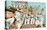 Sailors' Boxing Match On Board Ship