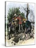 Sailors Digging for Captain Kidd's Pirate Treasure