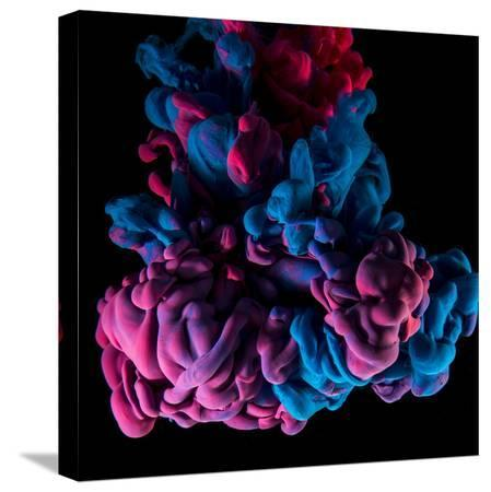 sanjanjam-ink-color-drop-violet-and-pink-on-black-background