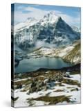 View of Wetterhorn Mountain and Bachsee Lake  Bernese Alps  Grindelwald  Switzerland
