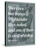 Scottish Proverb on What a Highlander Likes Naked - 1855  Scotland Map