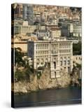 View From Helicopter of Monaco Oceanography Museum and Monte Carlo  Monaco  Cote D'Azur