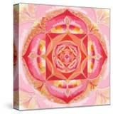 Abstract Red Painted Picture With Circle Pattern  Mandala Of Muladhara Chakra