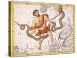 """Constellation of Ophiucus and Serpens  Plate 22 from """"Atlas Coelestis"""""""