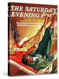 """Apres Ski "" Saturday Evening Post Cover  February 22  1941"