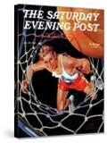 """""""Two Points """" Saturday Evening Post Cover  January 24  1942"""