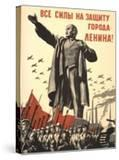 Soviet World War 2 Poster  1941  'All Forces to the Defense of the City of Lenin!'