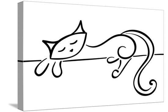 stellis-silhouette-of-a-lying-black-cat