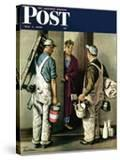 """Apartment Painters "" Saturday Evening Post Cover  May 1  1948"