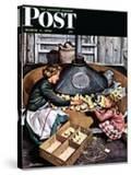 """Chicks in Incubator "" Saturday Evening Post Cover  March 5  1949"