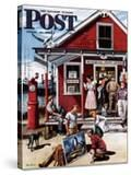 """Coastal Postal Office"" Saturday Evening Post Cover  August 26  1950"
